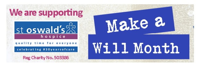 St Oswald's Make a Will Month